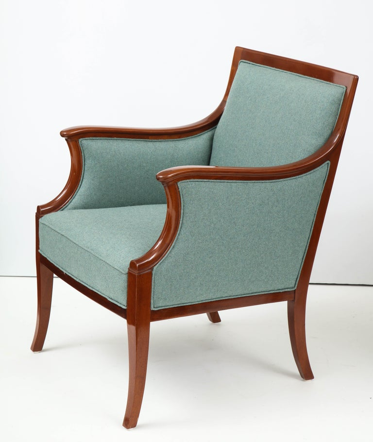 Pair of Frits Henningsen Mahogany Armchairs, circa 1940s For Sale 3