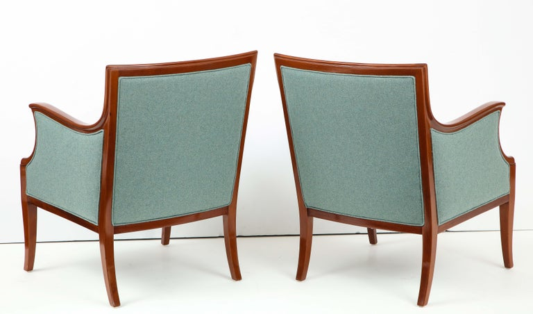 Pair of Frits Henningsen Mahogany Armchairs, circa 1940s For Sale 4