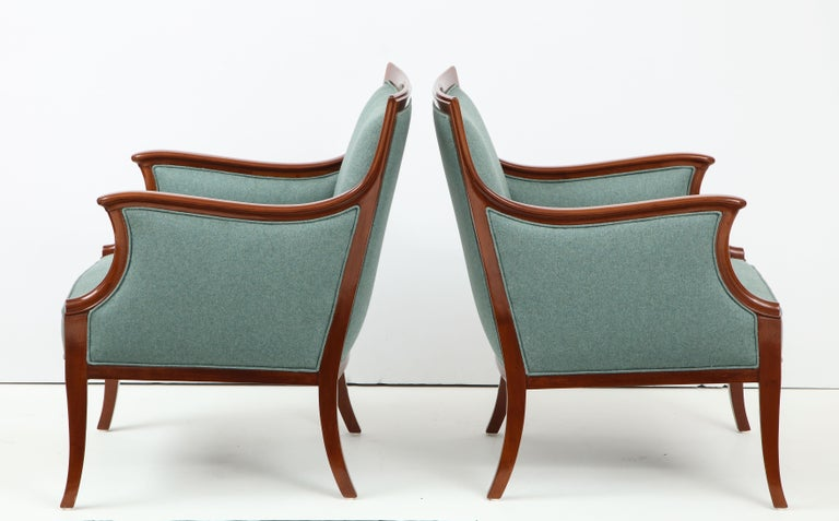 Pair of Frits Henningsen Mahogany Armchairs, circa 1940s For Sale 6