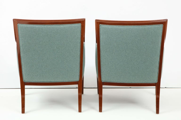 Pair of Frits Henningsen Mahogany Armchairs, circa 1940s For Sale 7