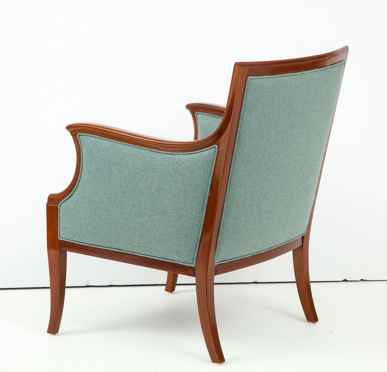 Pair of Frits Henningsen Mahogany Armchairs, circa 1940s In Good Condition For Sale In New York, NY