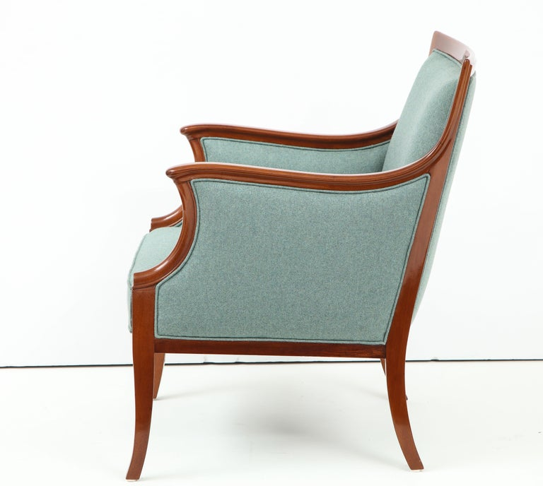 Mid-20th Century Pair of Frits Henningsen Mahogany Armchairs, circa 1940s For Sale