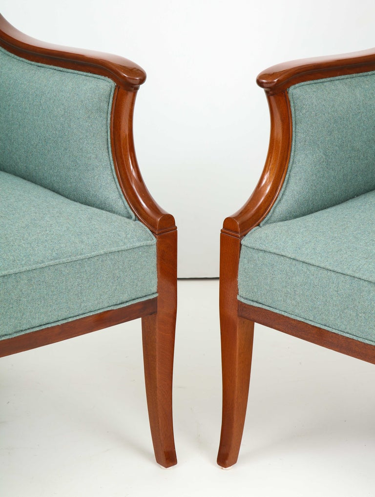 Pair of Frits Henningsen Mahogany Armchairs, circa 1940s For Sale 2