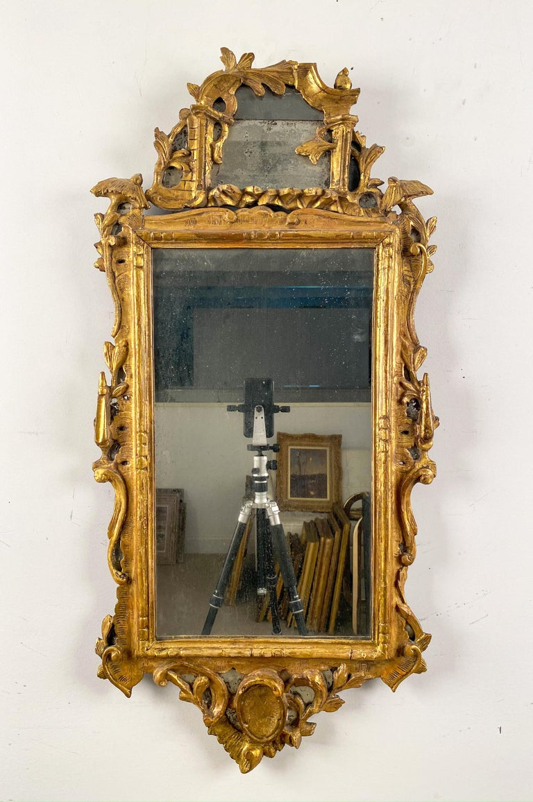 English A Pair of George III Giltwood Mirrors For Sale