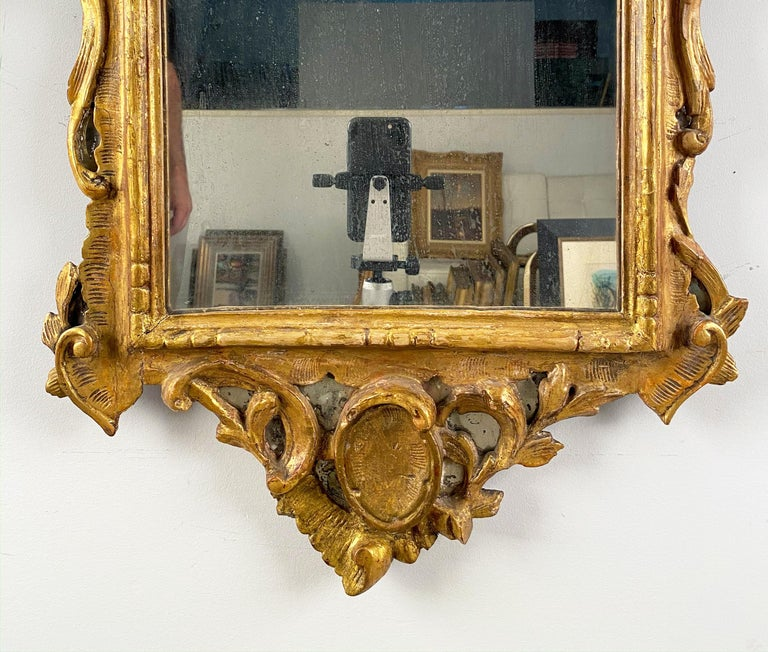 18th Century and Earlier A Pair of George III Giltwood Mirrors For Sale
