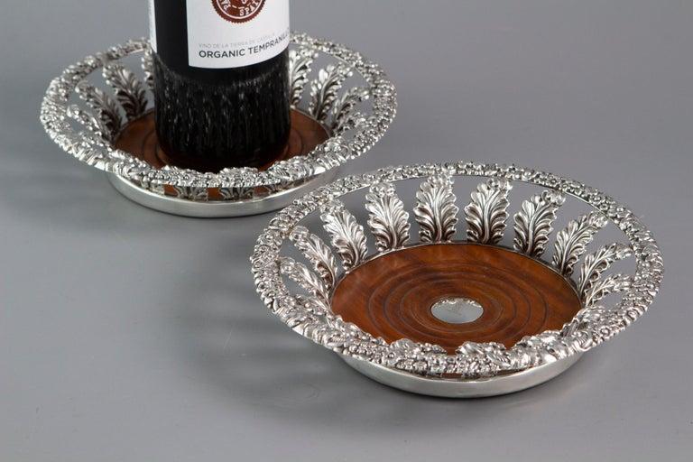 Pair of George III Silver Wine Coasters Sheffield, 1818 14