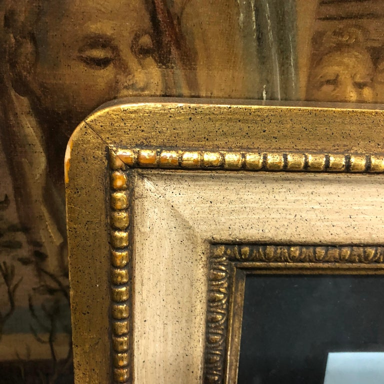 Paper Pair of Gilded Framed Italian Gouaches Depicting Sorrento, circa 1870 For Sale