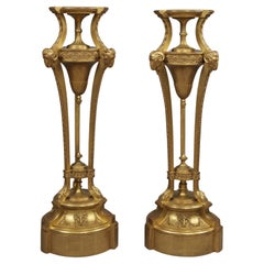 Pair of Giltwood and Gesso Pedestals
