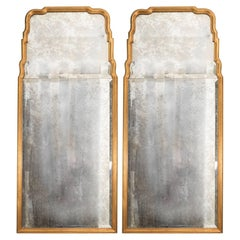Pair of Giltwood Italian Mirrors