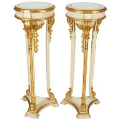 Pair of Giltwood Jansen Style Pedestals
