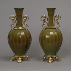 A Pair Of Glass Vases Attributed to La Cristallerie de Saint Louis, Circa 1890