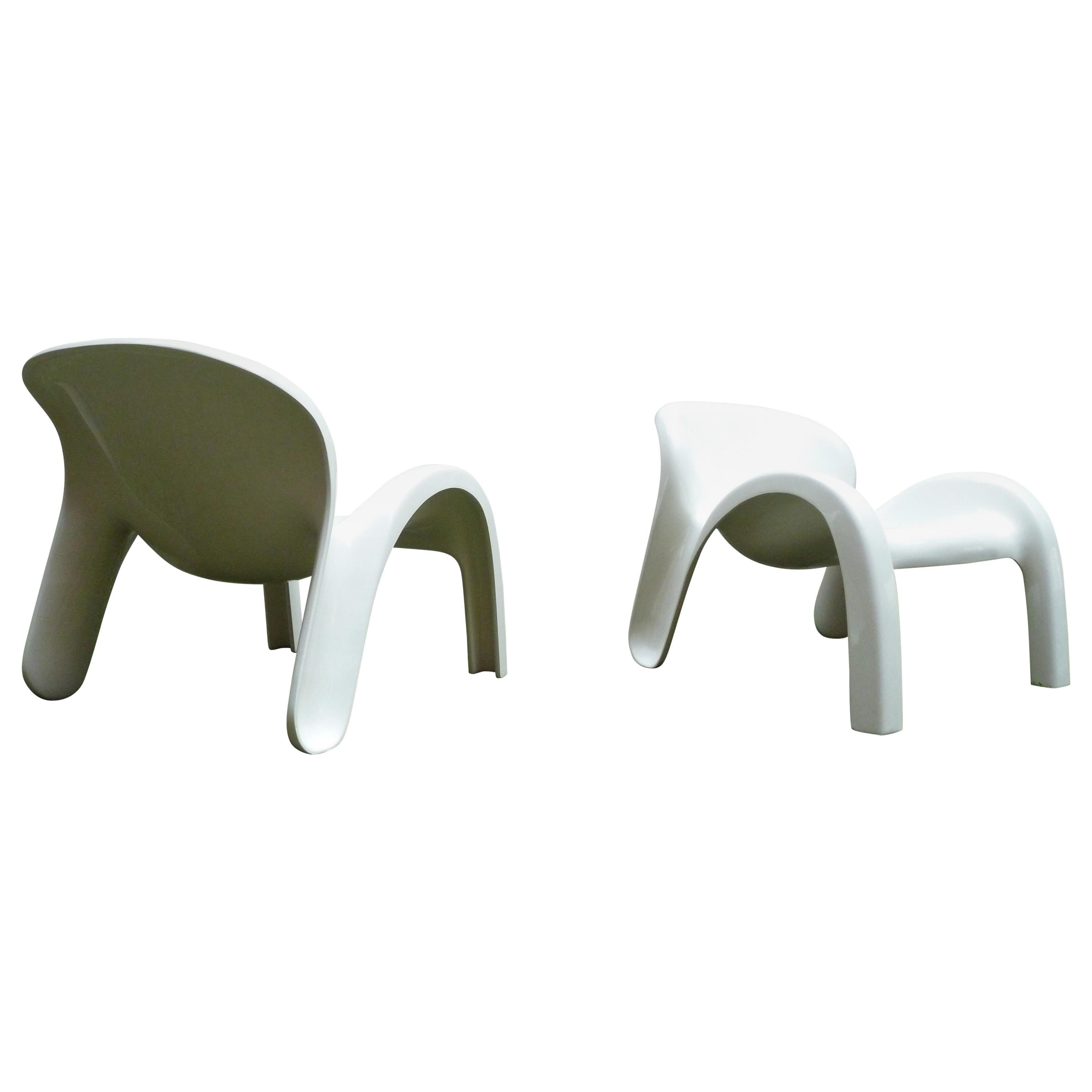 Pair of GN2 Peter Ghyczy Lounge Pool Chairs for Reuter, Form+Life Collection