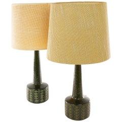 Pair of Green DL/35 Table Lamps by Linnemann-Schmidt for Palshus, 1960s