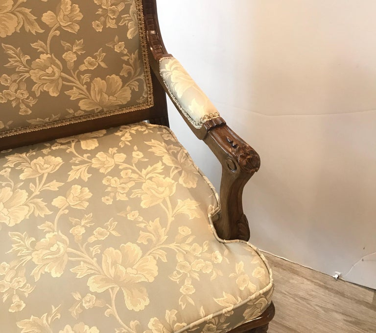 Pair of Hand Carved Walnut Armchairs For Sale 7