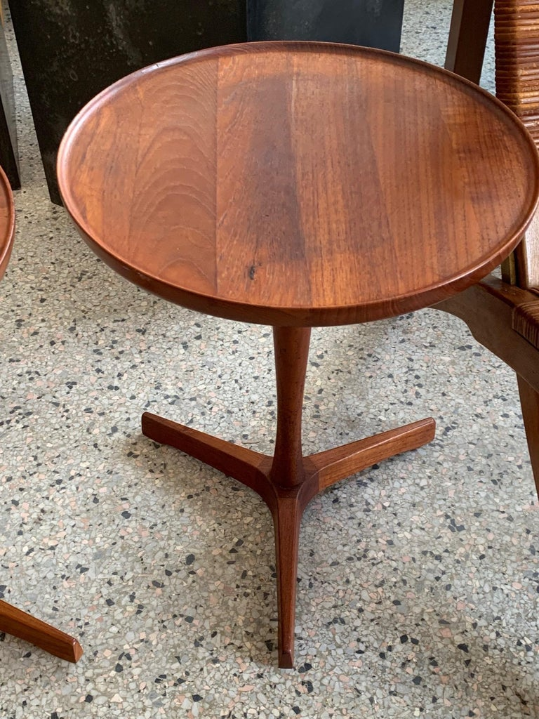 Pair of Hans Andersen Teak Side Tables For Sale 4