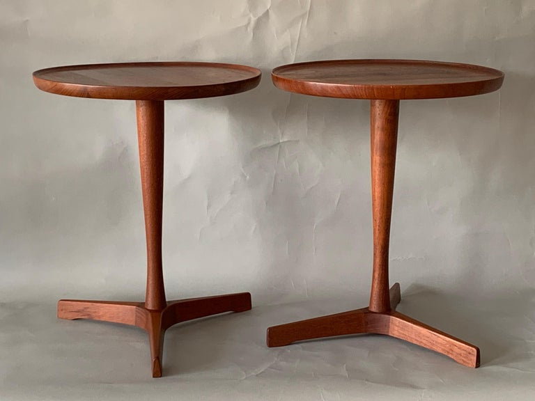 Pair of Hans Andersen Teak Side Tables For Sale 5