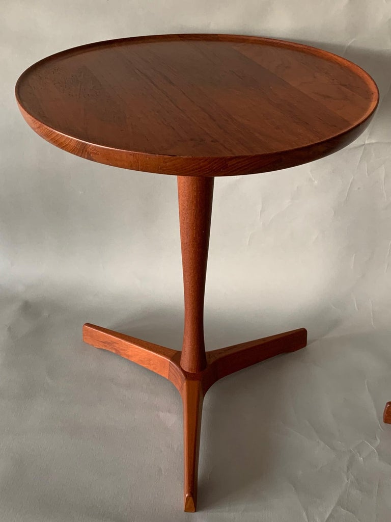 Pair of Hans Andersen Teak Side Tables For Sale 2