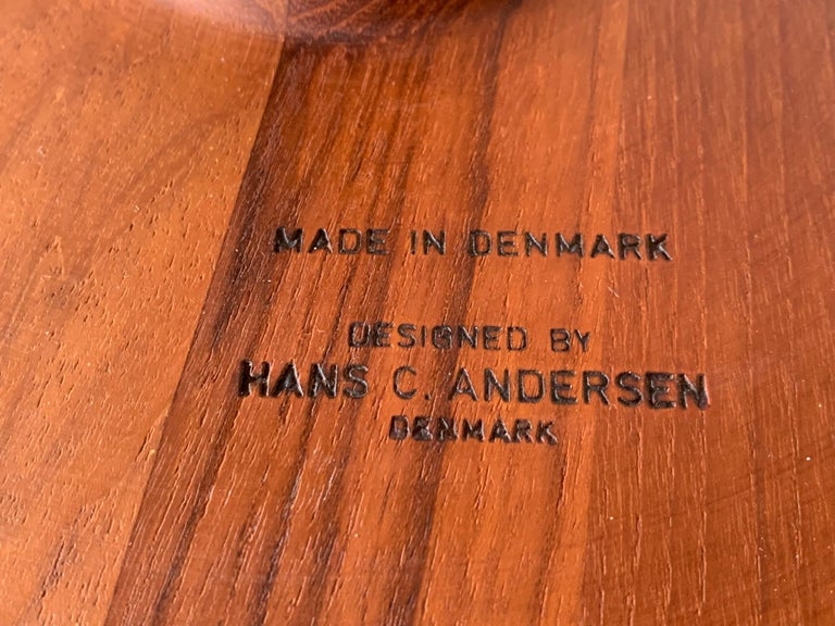 Pair of Hans Andersen Teak Side Tables For Sale 3