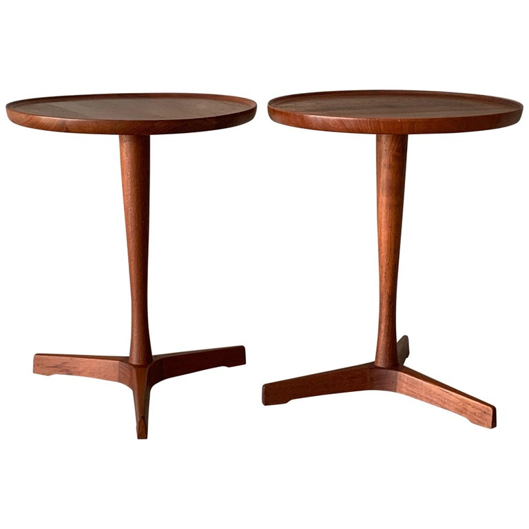 Pair of Hans Andersen Teak Side Tables For Sale