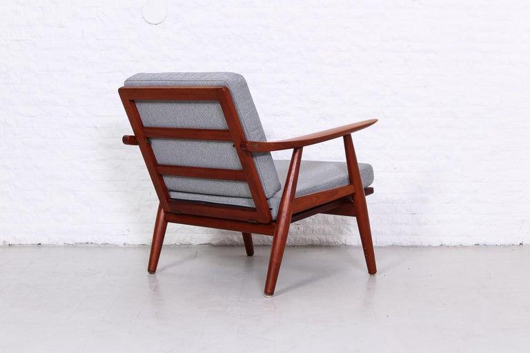 Danish Pair of Hans J Wegner GE-270 Teak Easy Chairs, 1950s