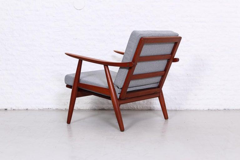Mid-20th Century Pair of Hans J Wegner GE-270 Teak Easy Chairs, 1950s