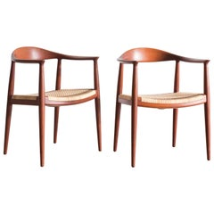Pair of Hans J. Wegner 'the Chair', for Johannes Hansen, 1949