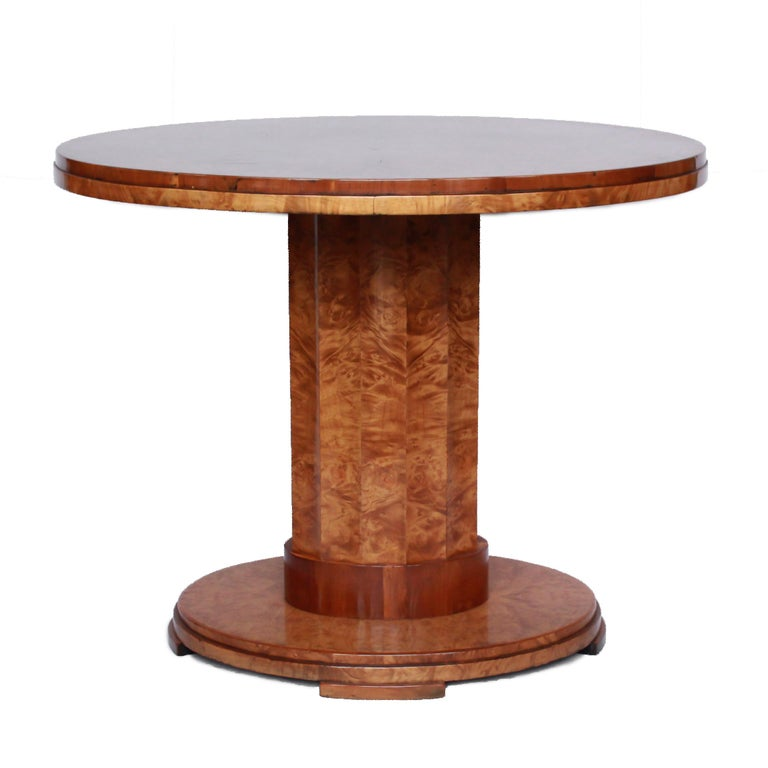 English Pair of Harry & Lou Epstein Art Deco Walnut Centre Tables