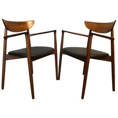 Pair of Harry Ostergaard Rosewood Armchairs