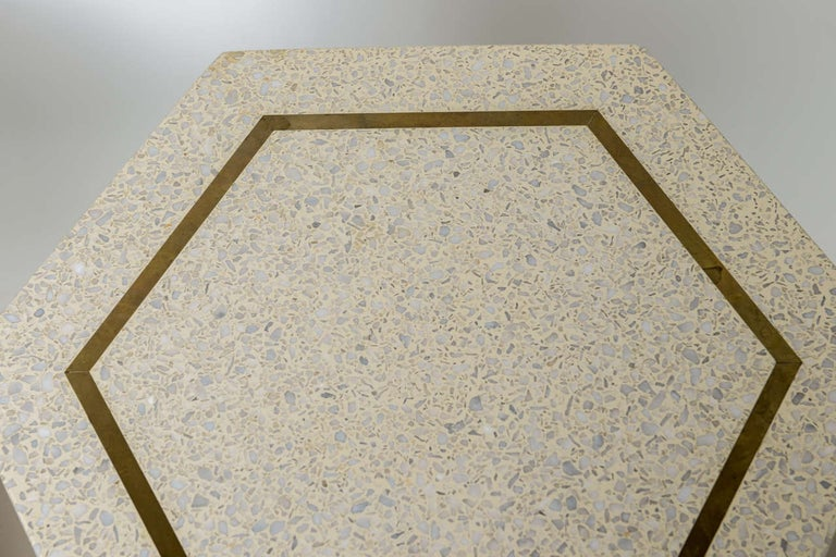 Mid-20th Century Pair of Harvey Probber Terrazzo and Dark Walnut Tables For Sale