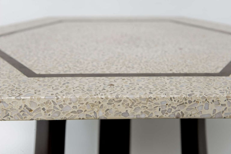 Pair of Harvey Probber Terrazzo and Dark Walnut Tables For Sale 3