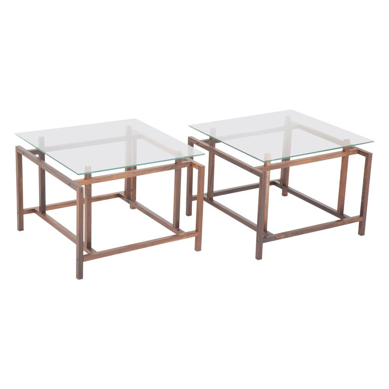 Pair of Henning Norgaard Rosewood End Tables by Komfort Mobler, Denmark For Sale