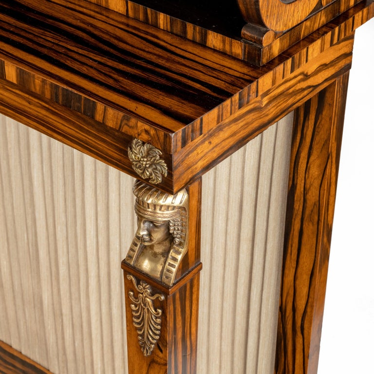 Pair of High Regency Coromandel and Ormolu Bookcase Console Tables For Sale 9
