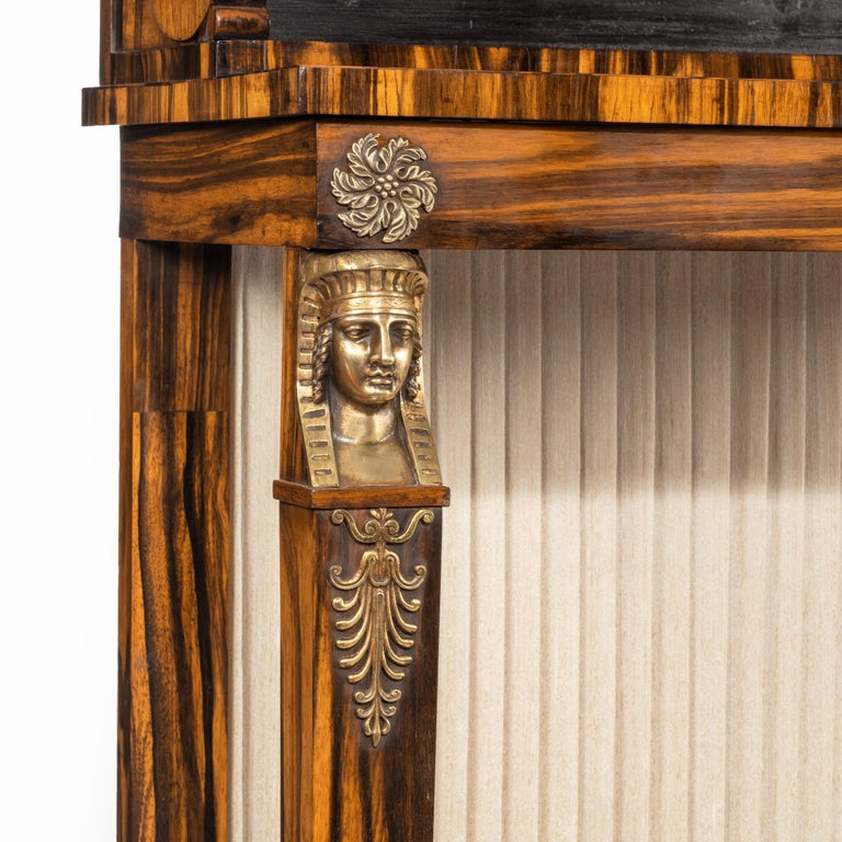 Pair of High Regency Coromandel and Ormolu Bookcase Console Tables For Sale 1