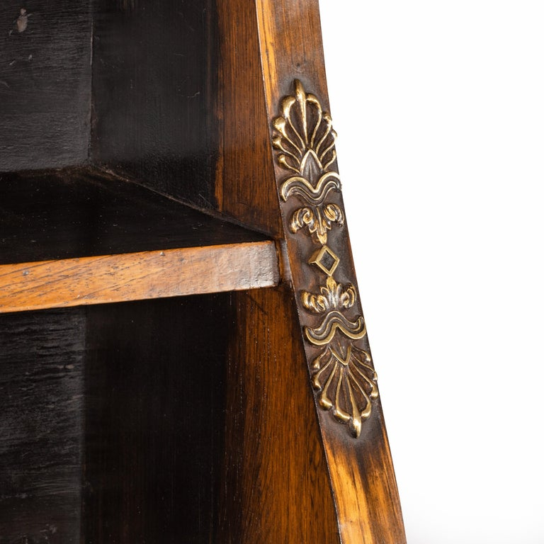 Pair of High Regency Coromandel and Ormolu Bookcase Console Tables For Sale 3