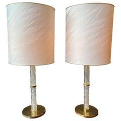 Pair of Hollywood Regency Kaiser Table Lamps by Kaiser Leuchten, 1970's