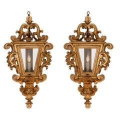 Pair of Italian 18th Century Venetian Mecca Lanterns