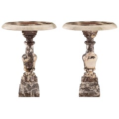 Pair of Italian 19th Century Louis XVI St. Marble Side Tables