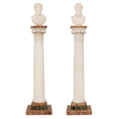 Pair of Italian 19th Century Neoclassical Style Grand Tour Marble Columns