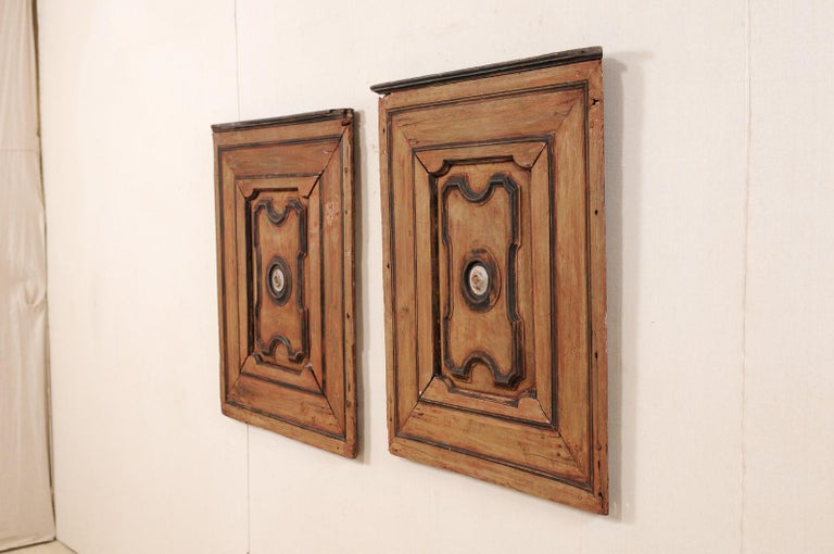 Pair of Italian Decorative Wall Panels from Turn of 18th-19th Century  For Sale 6