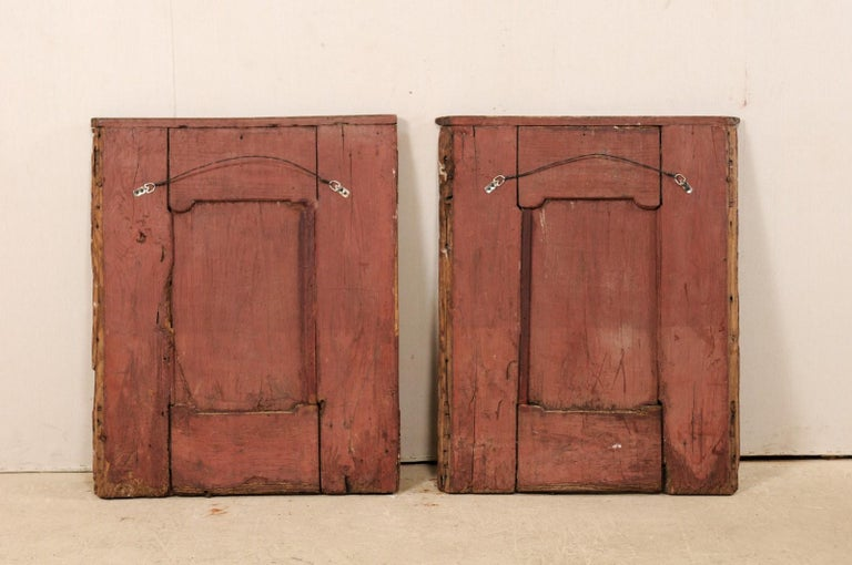 Pair of Italian Decorative Wall Panels from Turn of 18th-19th Century  For Sale 7