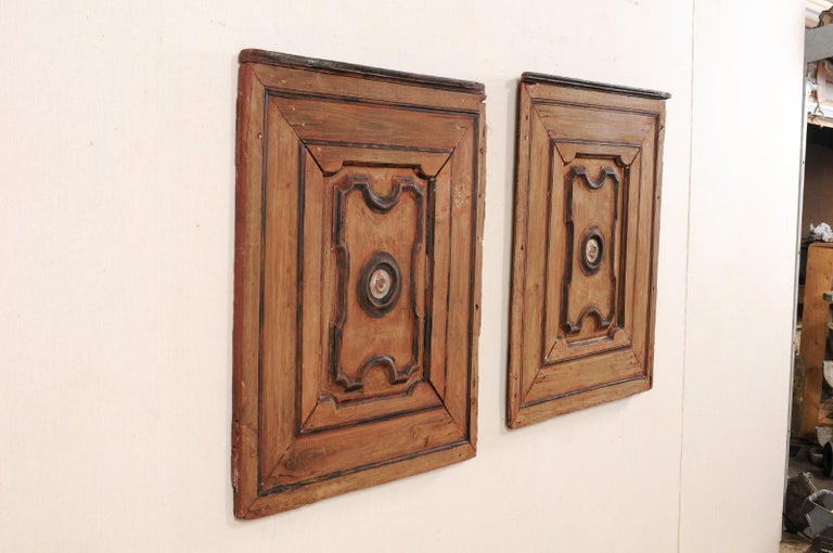 Pair of Italian Decorative Wall Panels from Turn of 18th-19th Century  For Sale 5