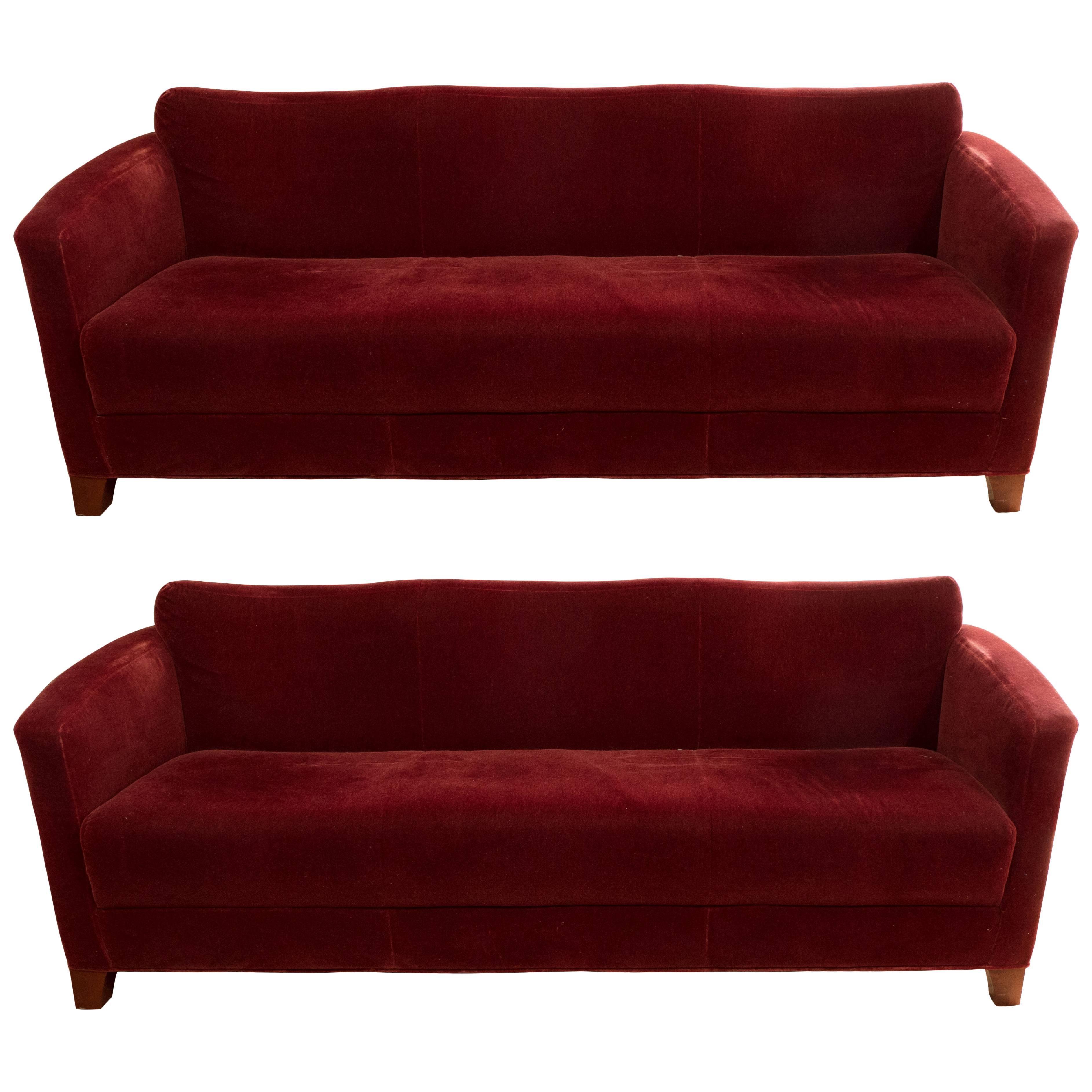 Pair Of Italian Midcentury Sofas For Sale