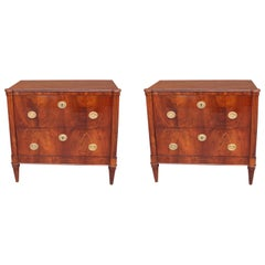 Pair of Italian Neoclassical Style Bedside Chests