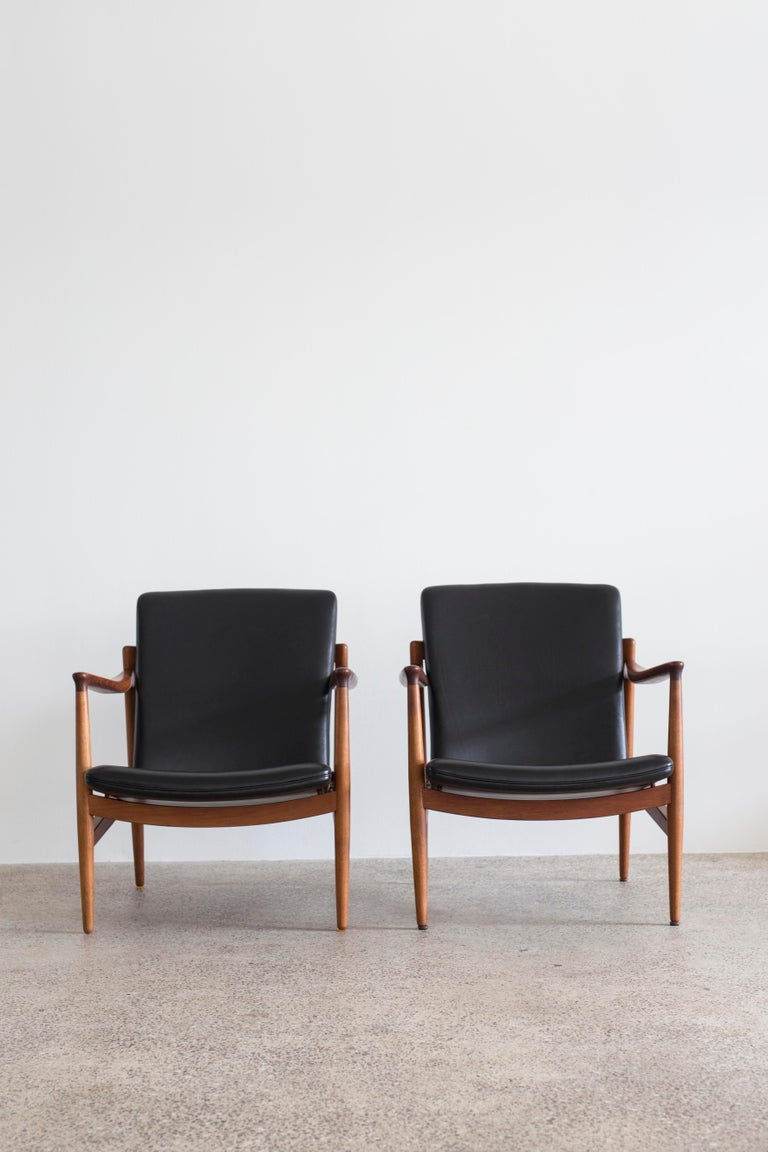 Danish Pair of Jacob Kjaer Easy Chairs, 1954 For Sale