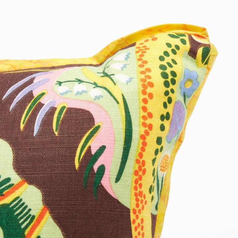 Pair of Cushions in Josef Frank Hawaii Pattern Textile In Excellent Condition For Sale In New York, NY