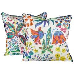 "Pair of Josef Frank ""Under the Equator"" Print Cushions"