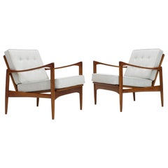 "Pair of ""Kandidaten"" 'Candidate' Chairs by Ib Kofod-Larsen, 1960s"