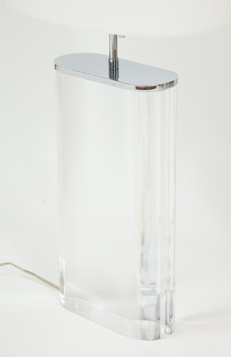 Pair of Karl Springer Large Lucite Table Lamps, circa 1982-1984 For Sale 6