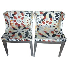 A Pair of Kartell Mademoissele ''À La Mode'' Missoni Chairs by Philippe Starck
