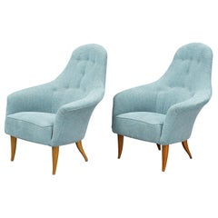 Pair of Kerstin Horlin-Holmquist 'Lilla Eva' Birch Armchairs